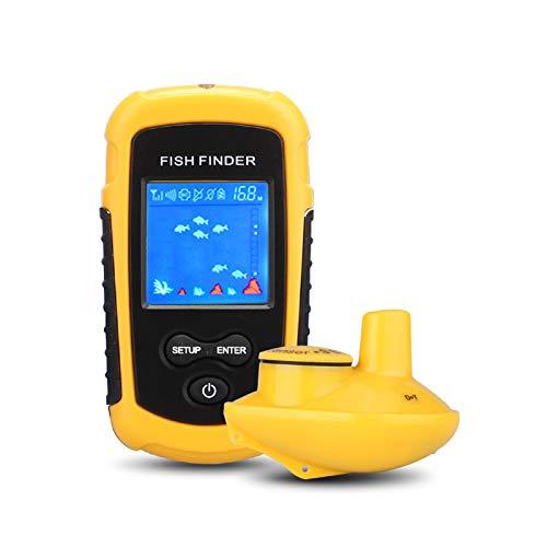 LSGMC Ecoscandaglio Wireless Fish Finder Portatile Display LCD Tenuto in Mano Ecoscandaglio Pesca Portatile Rilevatori di profondit Wireless per Kayak Pesca sul Ghiaccio Pesca in Mare Canoe Pesca