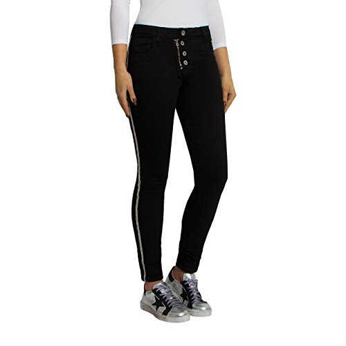 SKUTARI ORIGINAL Damen Jeans Stretch Hose Knopfleiste Reißverschluß...