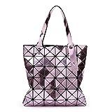 XYAZ Bolso de geometría de diamante con espejo de moda para mujer Bolso diagonal de PVC Bolso de tendencia,púrpura