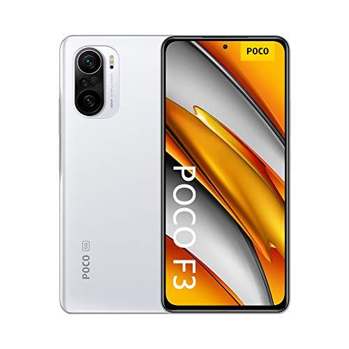 """Poco F3 - Smartphone 6+128GB, 6,67"""" 120Hz, Snapdragon 870, Cámara Triple de 48MP, 4520mAh, Blanco Ártico (Versión Global)"""