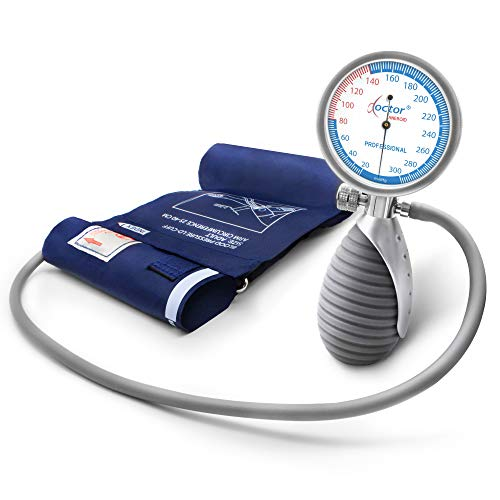AIESI Sfigmomanometro Manuale Professionale Aneroide modello palmare per adulti DOCTOR ANEROID #...