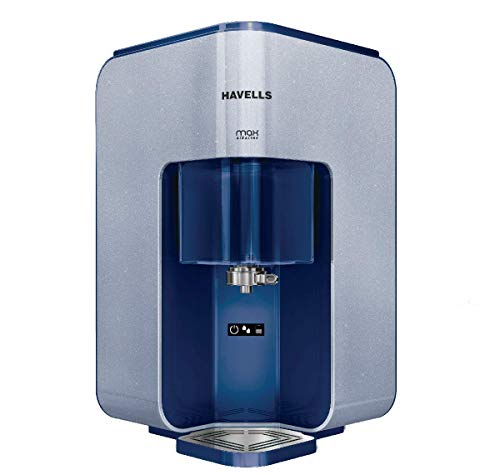 Havells Max Alkaline 7 Litre Absoulety safe RO + UV purified Alkaline Water Purifier with 8 Stages,...