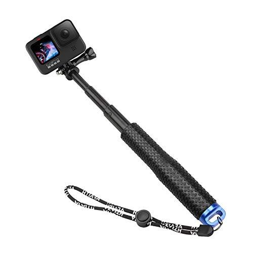 AFAITH Bastone Selfie Monopiede per GoPro Hero 10 9 8 7 Black, Regolabile Impermeabile Allungabile Selfie Stick Palo per GoPro Hero 10 9 8 7 6 5 4,SJCAM,Sony,Insta360,DJI OSMO,Xiaomi Yi,AKASO,SARGO