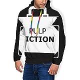 Pulp Fiction Maletín Minimal para hombre, sudadera con capucha y bolsillos de terciopelo