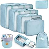 Packing Cubes for Travel, 8Pcs Travel Cubes Set Foldable Suitcase Organizer Lightweight Luggage...