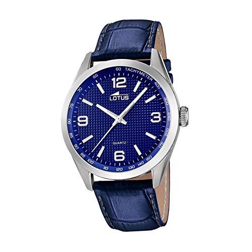 Lotus Herren Analoger Quarz Uhr mit Echtes Leder Armband 18149/4