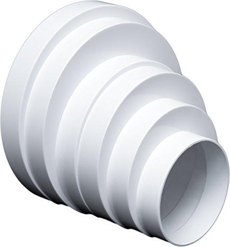 Riduttore universale per sistemi di ventilazione, 80160mm.Connettore di riduzione, tubo 80100120125150160mm.Tubo tondo di ventilazione, condotto di ventilazione. RDRA.
