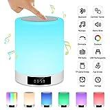Lampe de Chevet Tactile Rechargeable Portable, Lampe de Table Enceinte...