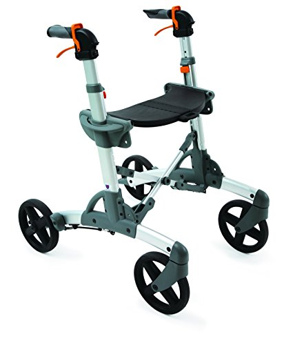 Volaris All-Terrain Smart Rollator Walker with Four Wheels and Seat, Folding, Lightweight, Aluminum