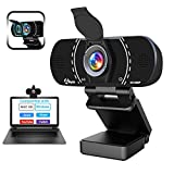 HD 1080P Webcam with Microphone and Privacy Cover, Akyta USB Web Computer Camera, 110 Degree Wide...