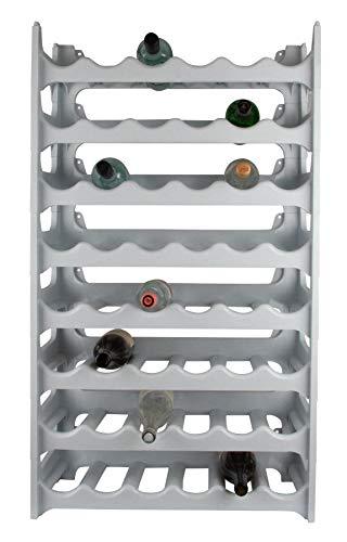 ARTECSIS Cantinetta Portabottiglie in Plastica Modulare 48 Bottiglie Bianco