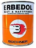 """Büchner ERBEDOL Rost- und Haftprimer""""rotbraun"""", 0,75L - für innen und außen, Rostschutzprimer für blanken und angerosteten Stahl, Haftgrund für Hart-Kunststoffe (außer Polypropylen und Polyethylen)"""
