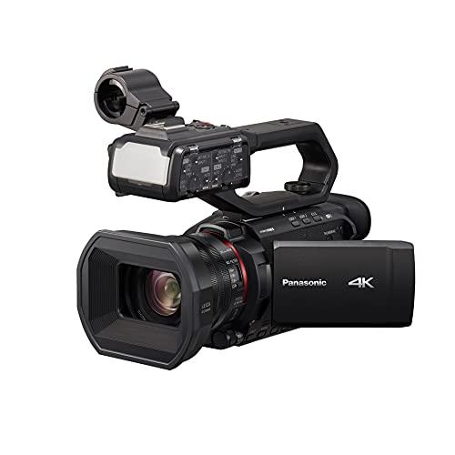Panasonic X2000 | Caméscope Semi-Pro 4K (4K 60p, Zoom Optique Leica 24x, 25mm, Stabilisé, Viseur, Enreg. interne 4:2:2 10bit 4Kj, Live Streaming FHD, Torche LED,2 Prises XLR) Noir – Version Française