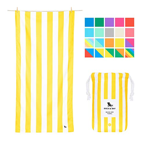 Microfiber Towel - Beach & Travel (Yellow - Large 160x80cm)