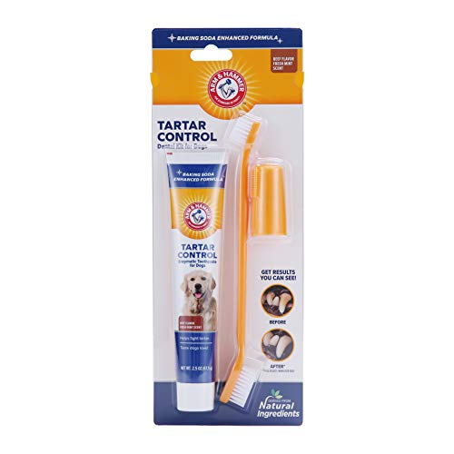Arm & Hammer for Pets Tartar Control Kit for Dogs...