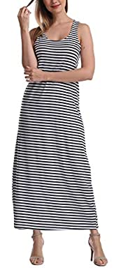 Super Soft Sleeveless Vest Bodycon maxi Dress, Racerback solid or Stripes Long Tank Materials : 95% Polyester , 5% Spandex . Perfect Dress for Casual , pary , Beach , Boardwalk at evening , Vacation , Church , Everyday wear US Size : S ( US 4-6) , M ...