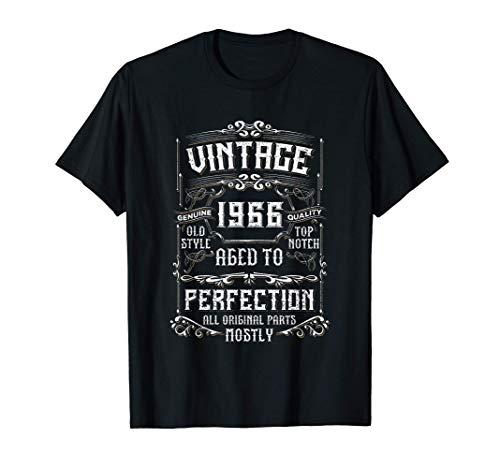 Vintage 1966 55th Birthday Gift Men Women 55 Years Old T-Shirt
