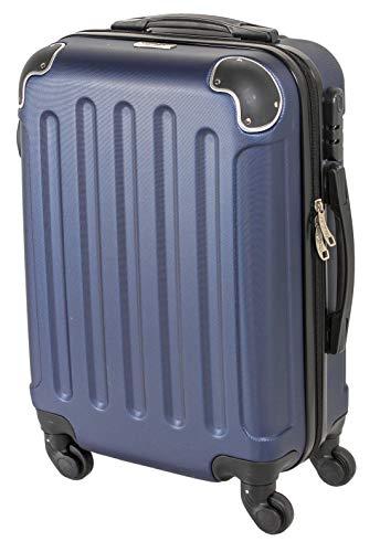 CABIN GO MAX 5571 Valigia Trolley rigido in ABS grande valigia con ruote, Idoneo Ryanair e Easyjet...