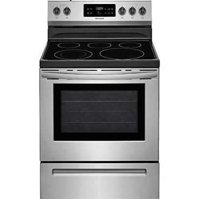 Frigidaire FFEF3054TS 30 Inch Electric Freestanding Range with 5 Elements, Smoothtop Cooktop, 5.3 cu. ft. Primary Oven Capacity, in Stainless Steel