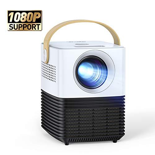 """Mini Beamer, APEMAN Support 1080P Video Projektor, ±30° Fern Elektronische Korrektur, Dual Lautsprecher, 120\"""" Display Full HD, Kompatibel mit HDMI/USB/Smartphone/PS4/TV Box, Für Heimkino[New Upgrade]"""