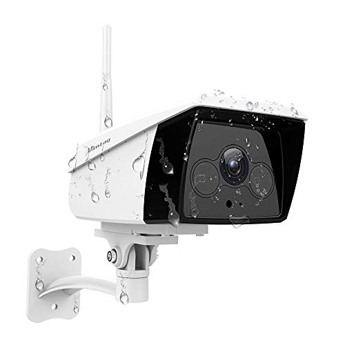 Vimtag - Telecamera IP Wi-Fi 4 MP, telecamera di sicurezza esterna 2 K, telecamera impermeabile con visione notturna, IR Audio bidirezionale, telecamera di sorveglianza Bullet per PC