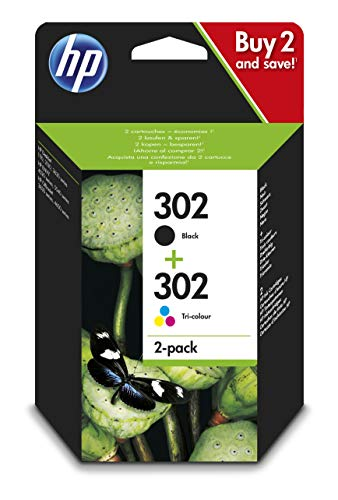 HP 302 Combo Pack X4D37AE Cartucce Originali, Compatibili con Stampanti a Getto di Inchiostro HP...