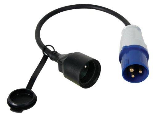 Perel ECEEC3M Câble adaptateur avec prise mâle vers fiche CEE, 40 cm de...