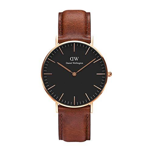 Daniel Wellington Unisex Analog Japanese Quartz Uhr mit Leder Armband DW00100136
