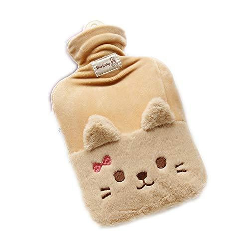 Huachaoxiang Bouillotte oreille chat eau chaude bouillotte 1000 ml Hiver...