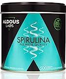 Espirulina Ecológica Premium para 9 Meses - 500 comprimidos de 500mg con 99% BIO Spirulina -...