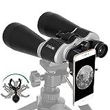 ESSLNB Astronomy Binoculars 13-39X70 Zoom Giant Binoculars with Tripod Adapter Phone Adapter and Case Binoculars for Bird Watching Hunting and Stargazing