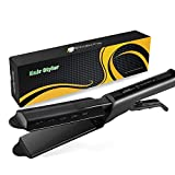 Hiaksedt Hair Straightener Flat Iron for Hair Floating Ceramic Ionic Hair Straightening Irons Adjustable Temperature Wet Dry Using Travel Size