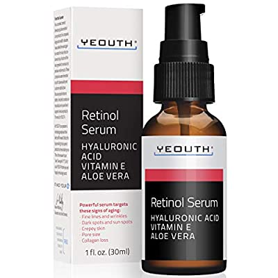 Formulated professionally with high quality ingredients, YEOUTH 2.5% retinol serum for face will last for 1 month of continued use. Unit size 1oz. Perfect wrinkle cream and best retinol serum. Anti aging cream for women and men. Reveal a brighter, mo...