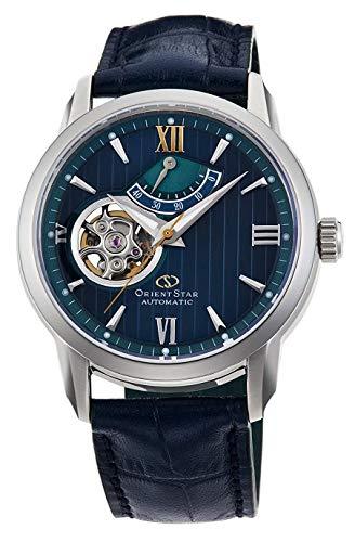 Orient star Limited Edition Semi Skelett Mechanische Saphir Kleid Armbanduhr re-da0001l