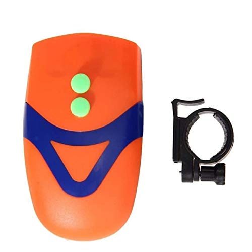 FASTPED® Cool Bell with 3 LED Light Orange Bicycle Bike Accessories Adjustable Safety Warning Loud Horn