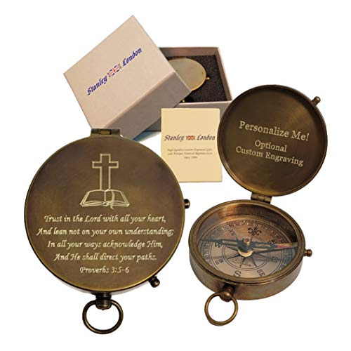Personalized Pocket Compass Religious Gifts Engraved |...