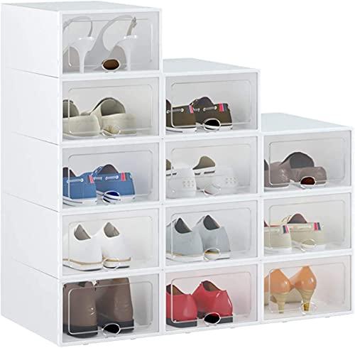 HOMIDEC 12 pcs Cajas de Zapatos, Cajas de Almacenamiento de...
