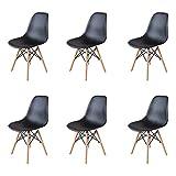 GrandCA Home Ensemble de 4/6 chaises, Design Bois Chaise de Salle à...