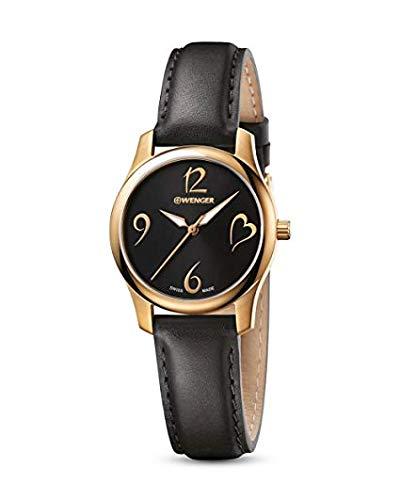 Wenger Damen Analog Quarz Uhr mit Leder Armband NO.: 01.1421.107