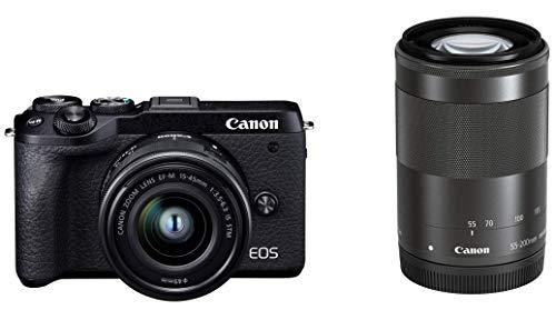 Canon ミラーレス一眼カメラ EOS M6 Mark II ダブルズームキット ブラック EOSM6MK2BK-WZK