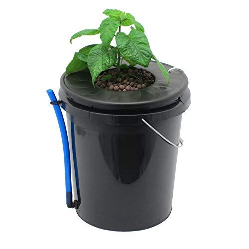 Viagrow V1DWC Lack Bucket Deep Water Culture Hydroponic System, Black