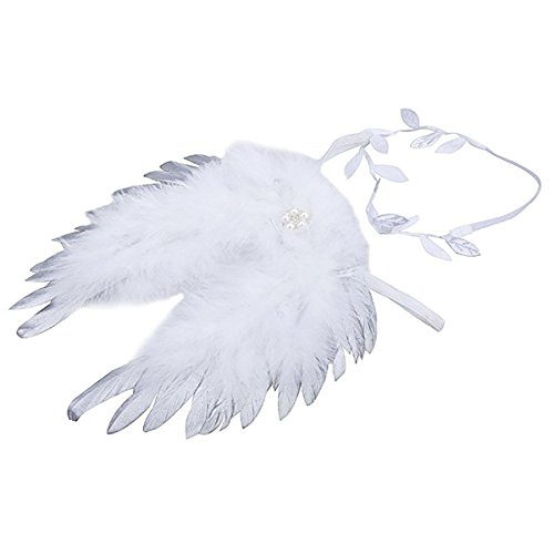 White Feather Angel Wings for Baby Photoshoot, Photography Props...