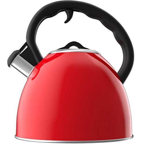 Vremi 2 quart Whistling Tea Kettle for Stovetop - Stainless...