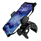 DHYSTAR Smart Phone Holder Mount Clip for Golf Cart,Bike/Bicycle/Motorcycle Handlebar,Music Mic Microphone Stand Pole Boom,Stroller,Wheelchair Walker,Treadmill,Boat Helm,Clamp Fits Most Cell Phones