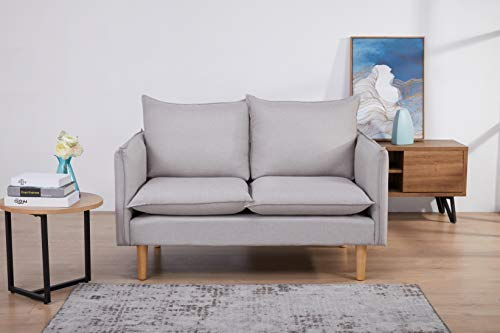 Marchio Amazon - Movian Keitele - Divano a 2 posti, 130 x 82 x 84 cm, grigio chiaro