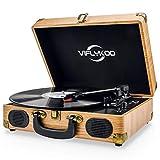 Platine Vinyle,VIFLYKOO Platine Vinyle à encodeur numérique portabl...