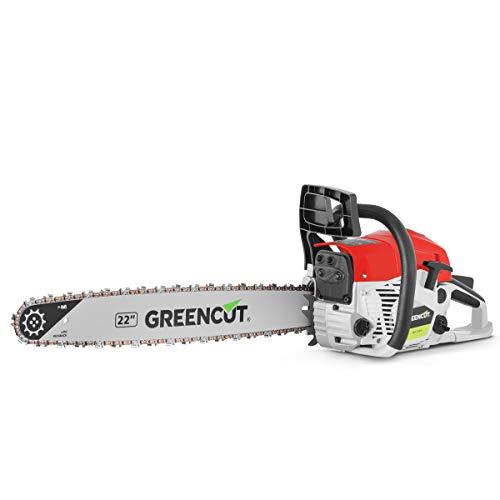 Greencut GS6800 Motosega a Benzina 68cc 3,9 cv, Lama da 22', Rosso