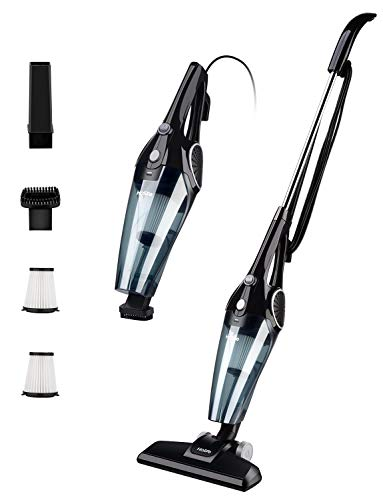 Holife Stick Vacuum & Handheld Vacuum, Lightweight Corded Vacuum Cleaner Bagless with HEPA Filtration,12Kpa Super Power Suction for Various Surfaces, Black