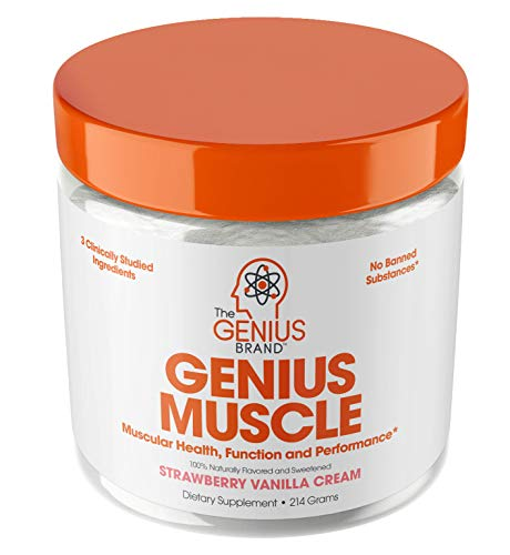 Genius Muscle Builder  Best Natural Anabolic Growth Optimizer for Men & Women | True Weight Gainer Supplement for Steel Physique | Immune System Support w/Vitamin D & Natural Organic Mushrooms