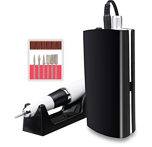 Professional 30000RPM Nail Drill,Rechargeable Electic Nail Drill Machine For Acrylic Nails, Cordless Nail Manicure Pedicure Machine(Black)